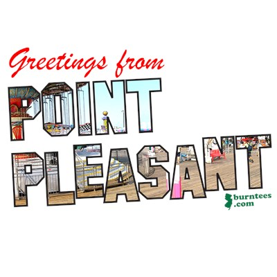 Greetings from Point Pleasant NJ Shore t-shirt from BurnTees.com