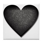 Heart of Stone Anti Valentine's Day Tile Coaster