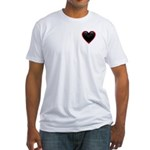 Black Glossy Heart Anti Valentine Fitted T-Shirt