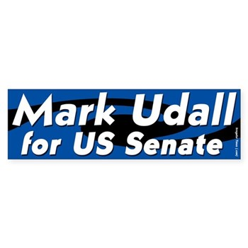 Mark Udall for Senate for the state of Colorado (bumper sticker)