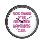 Man-Haters Wall Clock