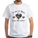 Super Hot Soldier - US Army White T-Shirt