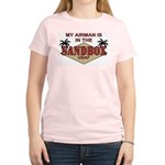 My Airman is in the Sandbox - Women's Light T-Shir