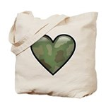 Love Military Cammo Heart Tote Bag