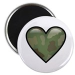 "Love Military Cammo Heart 2.25"" Magnet (100 pack)"