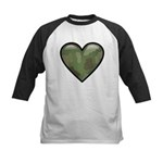 Love Military Cammo Heart Kids Baseball Jersey