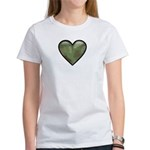 Love Military Cammo Heart Women's T-Shirt