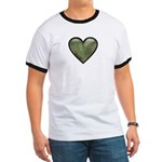 Love Military Cammo Heart Ringer T