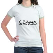 Logical Obama Jr. Ringer T-Shirt