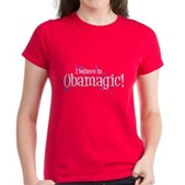 I Believe in Obamagic Women's Dark T-Shirt