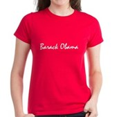 Script Barack Obama Women's Dark T-Shirt