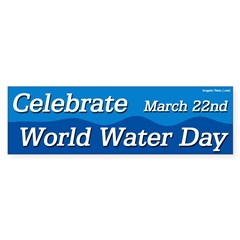 Celebrate World Water Day Sticker