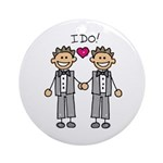 Men's Gay Marriage Ornament (Round)