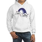 I Love My Sailor Navy Rainbow Hooded Sweatshirt