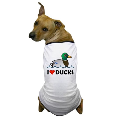 Birdorable I Love Ducks Dog T-Shirt