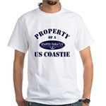 Property of US Coastie White T-Shirt