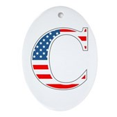 C stands for Colbert Oval Ornament
