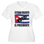 Voto! Esteban Colberto Women's Plus V-Neck Tee