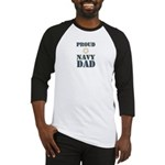 Proud Navy Dad Military Baseball Jersey