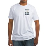 Proud Navy Dad Military Fitted T-Shirt