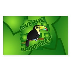 Save the Rainforest Sticker (Rectangle)
