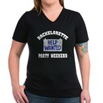 Women's V-Neck Black T-Shirt