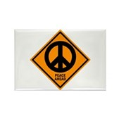 Peace Ahead Rectangle Magnet