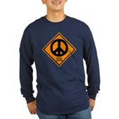 Peace Ahead Long Sleeve Dark T-Shirt