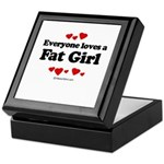 Everyone loves a Fat girl Keepsake Box