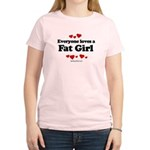 Everyone loves a Fat girl Women's Light T-Shirt