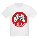 Peace is the word Kids Light T-Shirt
