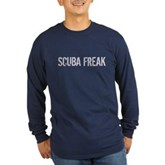 Scuba Freak Long Sleeve Dark T-Shirt