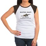 Watch Out! Military Uncle M-4 Women's Cap Sleeve T