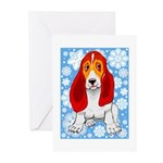 Holiday Basset Hound Christmas Cards