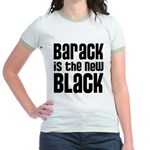 Barack is the New Black Jr. Ringer T-Shirt