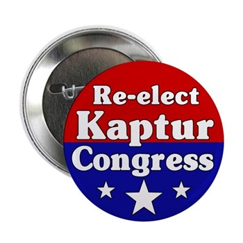 Re-Elect Marcy Kaptur to Congress (pro-Kaptur campaign button)