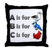 B is for Birdorable Throw Pillow