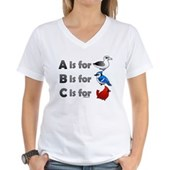 B is for Birdorable Women's V-Neck T-Shirt