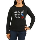 B is for Birdorable Women's Long Sleeve Dark Tee