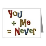 Funny You + Me = Never School Note Cards (Pk of 20