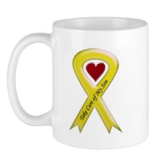 Take Care of my Son Yellow Ribbon Mug