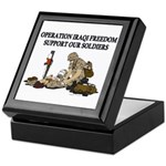 OIF Support our Soldiers Keepsake Box