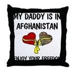 Daddy Afghanistan Freedom Throw Pillow