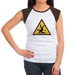 Warning: Clumsy! Women's Cap Sleeve T-Shirt