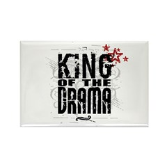 King of the Drama Rectangle Magnet