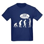 Evolution is following me Kids Dark T-Shirt