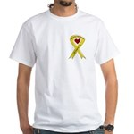We Support You Yellow Ribbon White T-Shirt