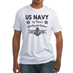 US Navy Friend Defending Fitted T-Shirt