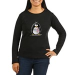 Breast Cancer penguin Women's Long Sleeve Dark T-Shirt