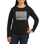 Heroes Priceless Support Our Troops Women's Long S